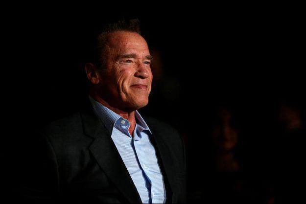 """Arnold Schwarzenegger, en février 2018, lors de la première de """"The 15:17 to Paris"""" en Californie."""