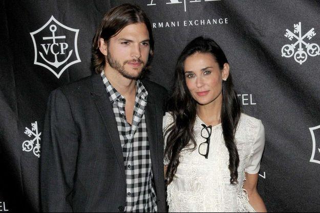 Ashton Kutcher et Demi Moore en 2011