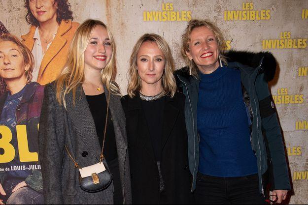 """Chloe Jouannet, Audrey Lamy, et Alexandra Lamy, à l'avant-premiere du film """"Les Invisibles"""" le 7 janvier 2019 à Paris."""