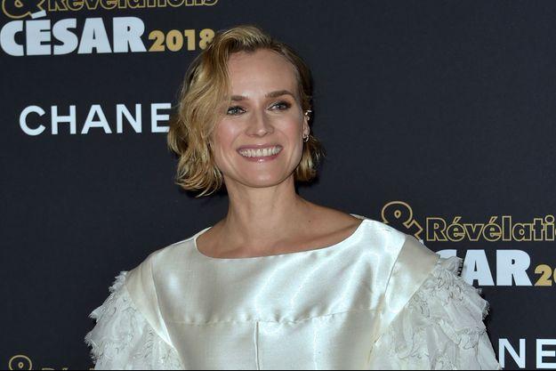 Diane Kruger lors de la cérémonie des César à Paris, le 15 janvier 2018
