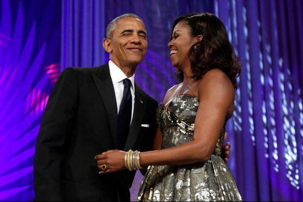 Barack et Michelle Obama en septembre 2016.