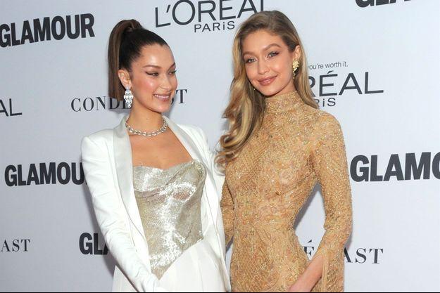 Bella Hadid et Gigi Hadid à la soirée Women Of The Year Awards au théâtre Kings à New York, le 13 novembre 2017