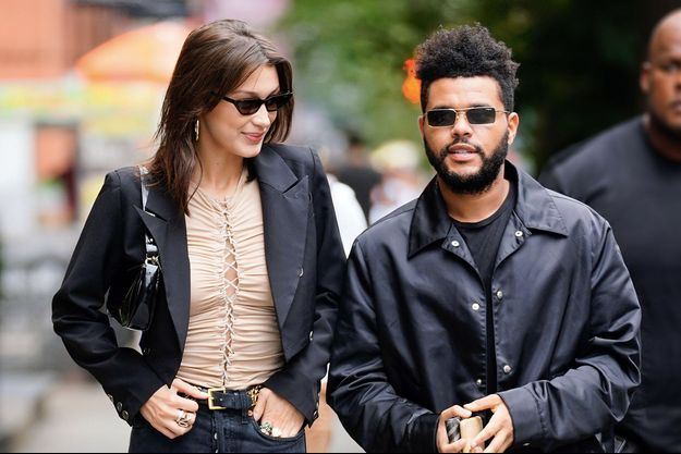 Bella Hadid et The Weeknd, le 10 octobre 2018, à New York
