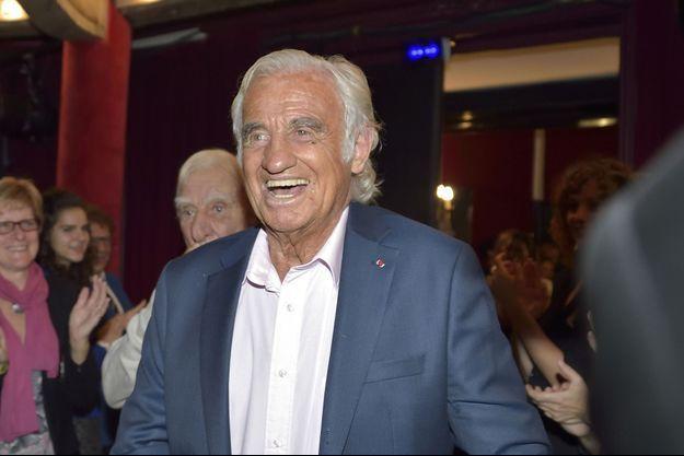 Jean-Paul Belmondo à la Gaïté Montparnasse en septembre 2016.