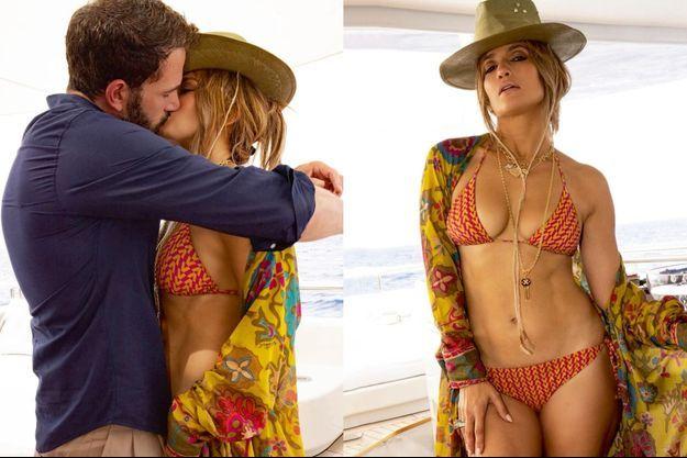 Dans les rues comme sur le pont de leur yacht, ils s'affichent sans réserve. A d. : Le 24 juillet, sur Instagram, Jennifer Lopez, fière de son corps, poste pour son anniversaire : «52… C'que ça fait. »