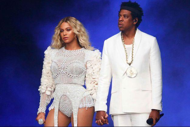 Beyoncé et Jay-Z le 14 juillet 2018 au Stade de France