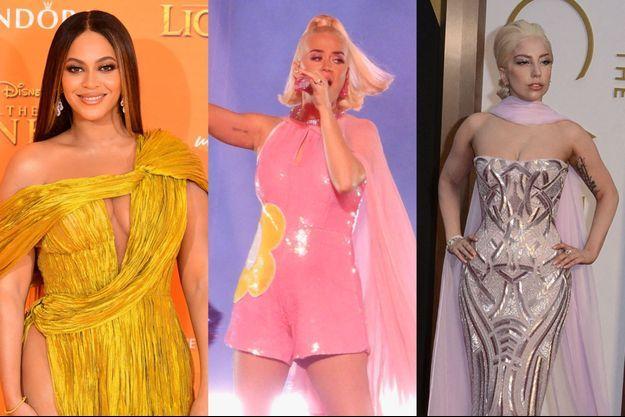 Beyoncé, Katy Perry et Lady Gaga.