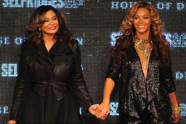 Beyoncé et sa mère Tina Knowles en septembre 2011