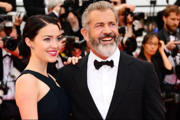 Mel Gibson et sa compagne Rosalind Ross au Festival de Cannes, en mai 2016.