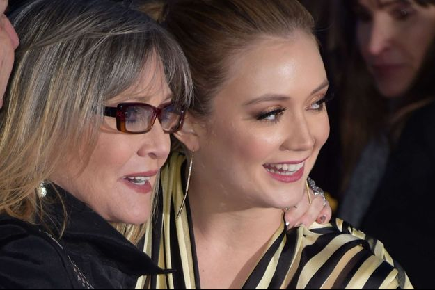 Billie Lourd et Carrie Fisher en 2015.