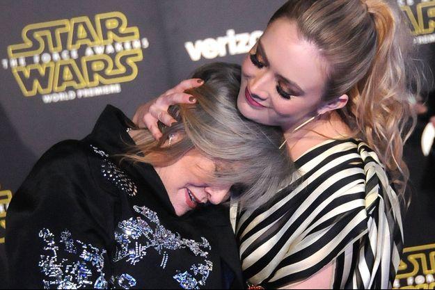 Carrie Fisher et Billie Lourd en décembre 2014.