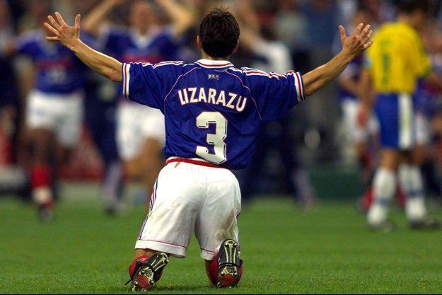 Bixente Lizarazu, le 12 juillet 1998, soir de la finale face au Brésil.