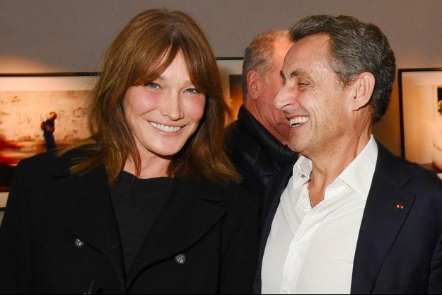 Carla Bruni et Nicolas Sarkozy le 18 octobre 2017