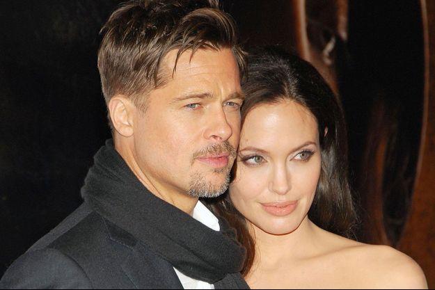 Brad Pitt et Angelina Jolie en 2008