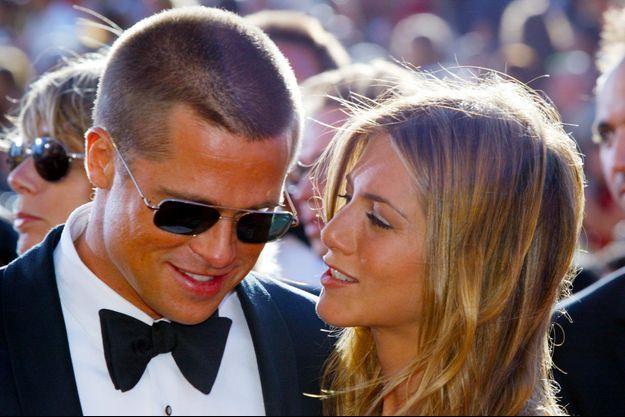 Brad Pitt et Jennifer Aniston en septembre 2004
