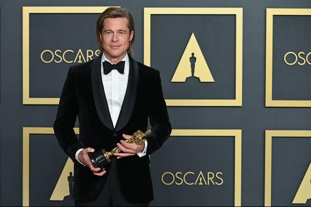 Brad Pitt à Hollywood en février 2020.