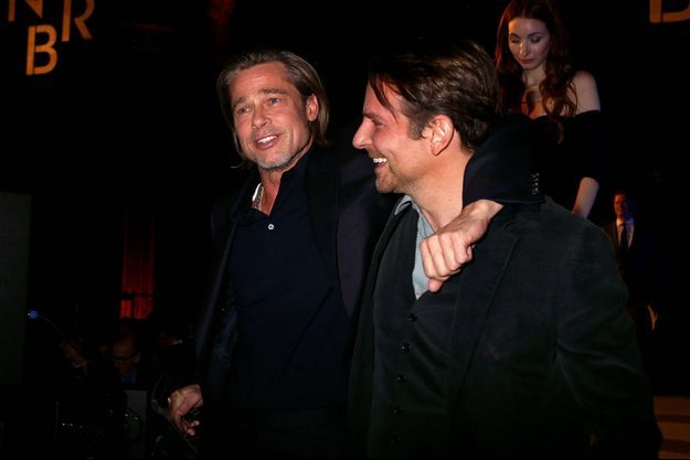 Brad Pitt et Bradley Cooper aux National Board of Review Awards à New York le 8 janvier 2020