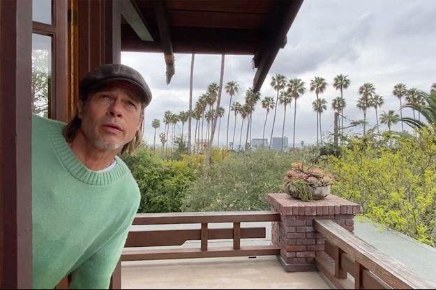 "Brad Pitt dans l'épisode 4 de ""Some Good News"", l'émission de John Krasinski"