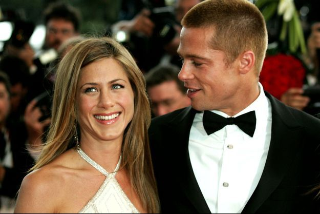 Jennifer Aniston et Brad Pitt à Cannes en 2004.