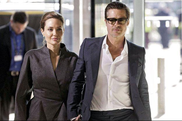 Angelina Jolie et Brad Pitt en juin 2014.