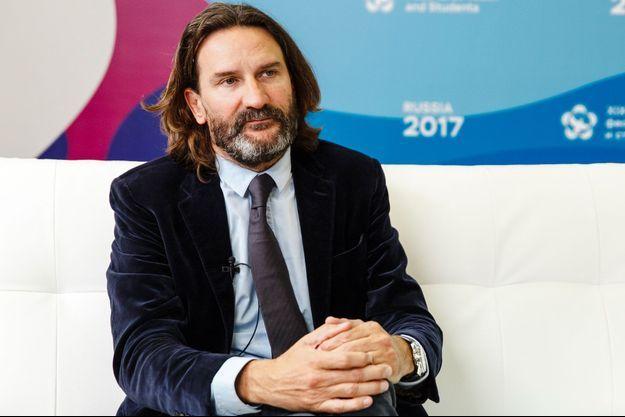Frédéric Beigbeder au festival mondial de la jeunesse et des étudiants en Russie le 17 octobre 2017.
