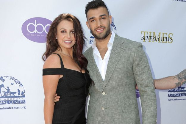 Britney Spears et son compagnon Sam Asghari à Los Angeles en septembre 2019.