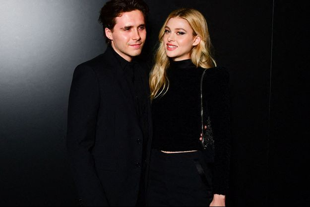 Brooklyn Beckham et Nicola Peltz en mars 2020 à la Fashion week parisienne.