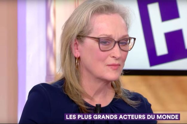 """Meryl Streep sur le plateau de """"C à vous"""""""