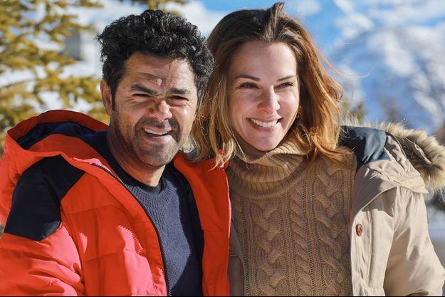 Jamel Debbouze et Mélissa Theuriau au festival de L'Alpe D'Huez en 2017.