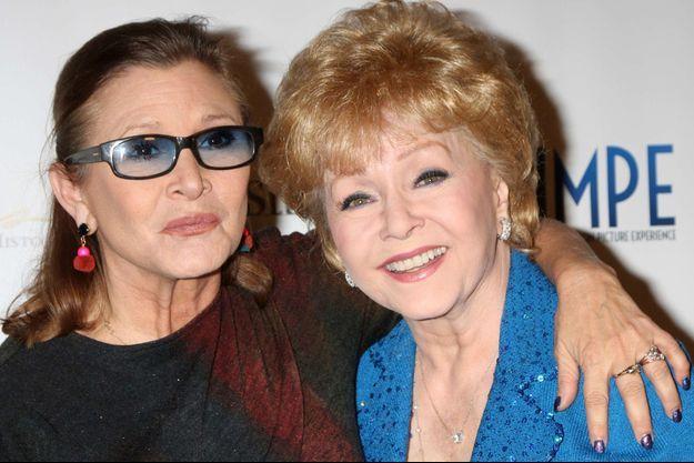 Carrie Fisher et Debbie Reynolds à Los Angeles en mai 2014.