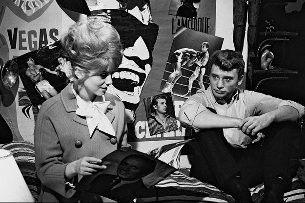 Catherine Deneuve et Johnny Hallyday sur le tournage des «Parisiennes» en 1961.