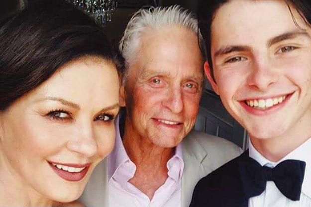 Catherine Zeta-Jones, Michael Douglas et leur fils Dylan
