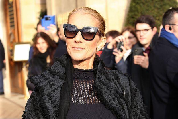 Céline Dion à Paris, le 1er février 2019