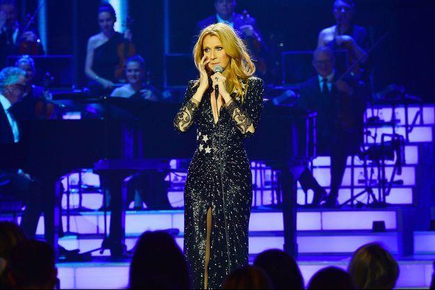 Céline Dion sur scène à Las Vegas, le 23 février 2016