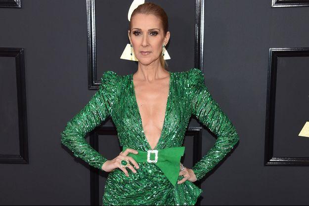 Celine Dion à la cérémonie des 59èmes Grammy Awards, à Los Angeles le 12 Février 2017.