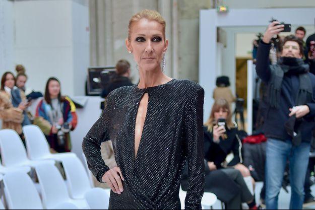 Céline Dion lors de la Fashion Week à Paris, le 22 janvier 2019