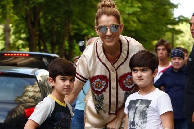 Céline Dion et ses jumeaux Nelson et Eddy