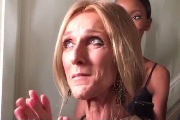 Céline Dion au défilé Valentino le 23 janvier 2019