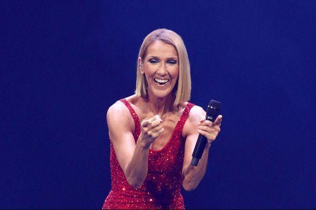 Celine Dion en concert à New York en mars 2020.