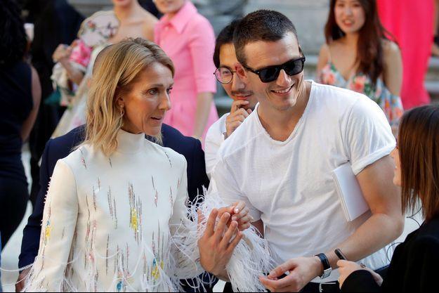 Céline Dion et Pepe Muñoz à Paris, le 3 juillet 2019