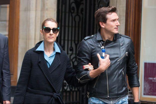 Céline Dion et Pepe Munoz à Paris, le 8 août 2017