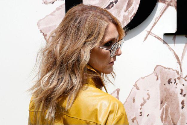 Céline Dion au défilé Dion en juillet 2017, à Paris.