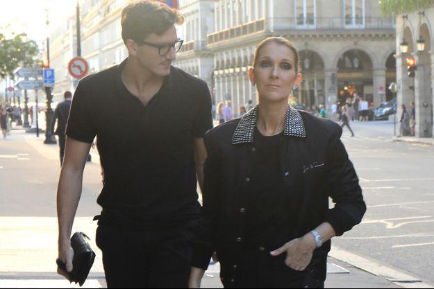 Céline Dion et Pepe Munoz, à Paris, le 7 juillet 2017.