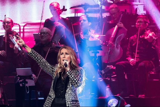 Céline Dion en concert à Leeds, en juin 2017.