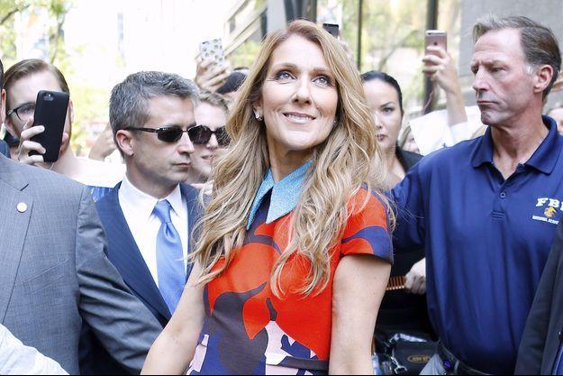 Céline Dion à New York en juillet 2016.