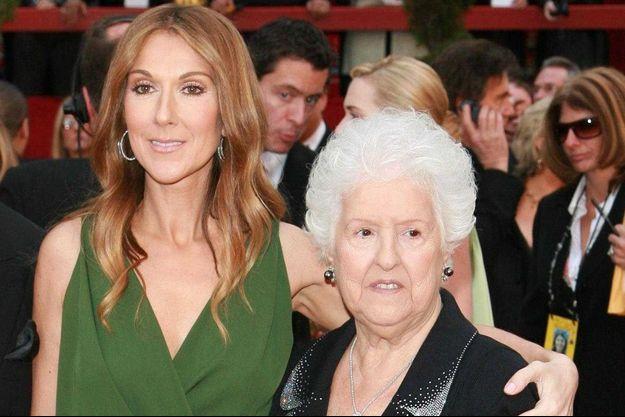 Céline Dion avec sa mère Thérèse en 2007.