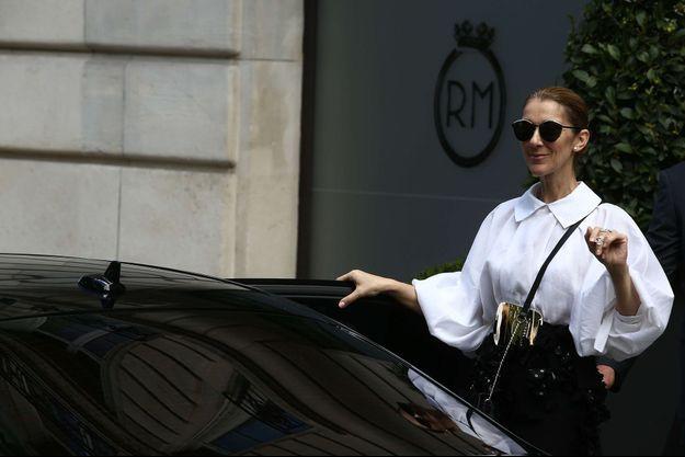 Céline Dion à Paris en juillet 2017.