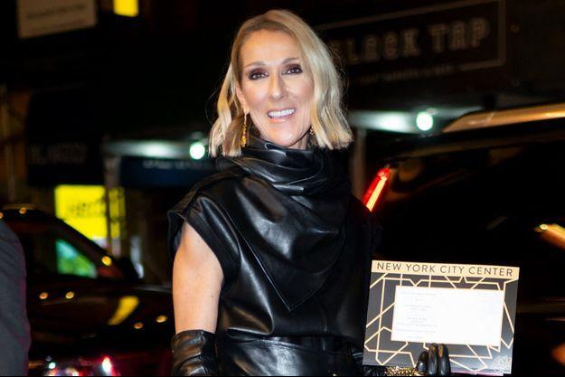 Céline Dion à New York en février 2020