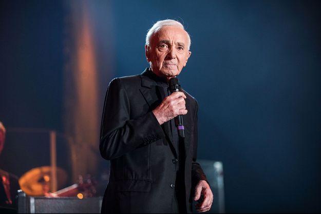 Charles Aznavour le 13 décembre 2017, à Paris.