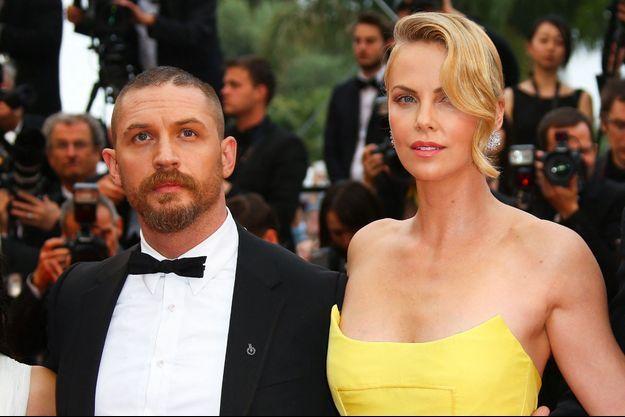 Charlize Theron et Tom Hardy à Cannes en 2015.